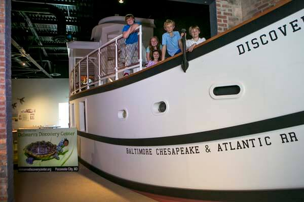 Discovery Center Kids on Boat Replica